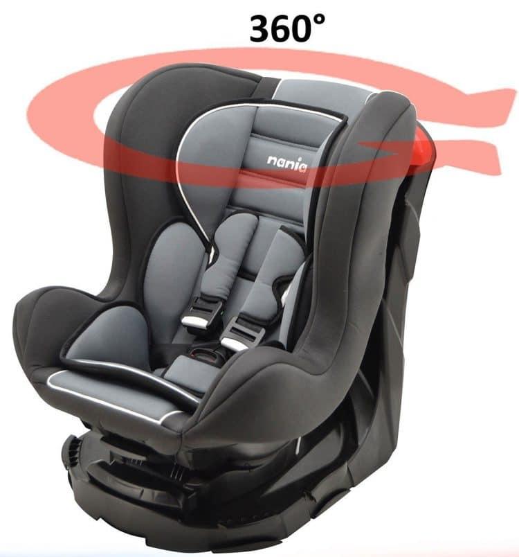 Siège Auto pour bébé Mycarsit 360°